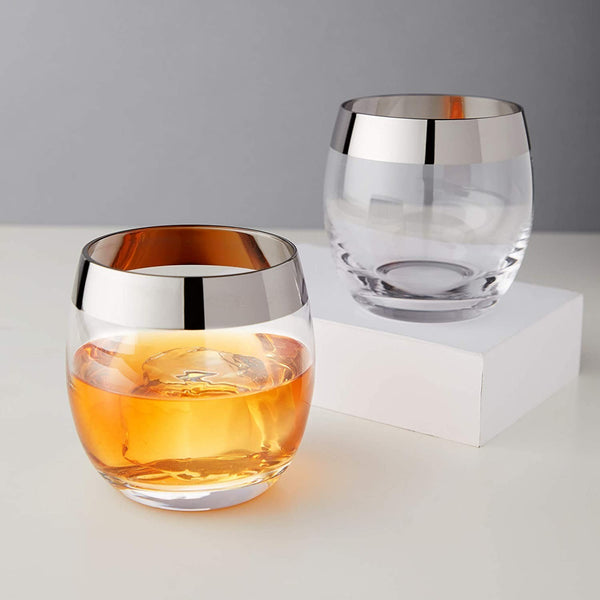 VISKI Irving Chrome Rim Tumbler Set