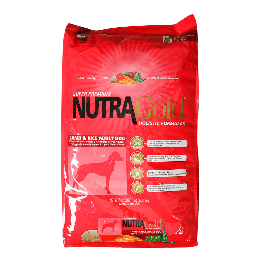 NutraGold Holistic Lamb & Rice Dry Dog Food 2.5KG