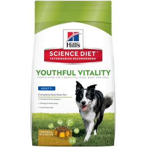 Hill's Science Diet Canine Youthful Vitality Adult 7+ Dry Dog Food 21.5LBS