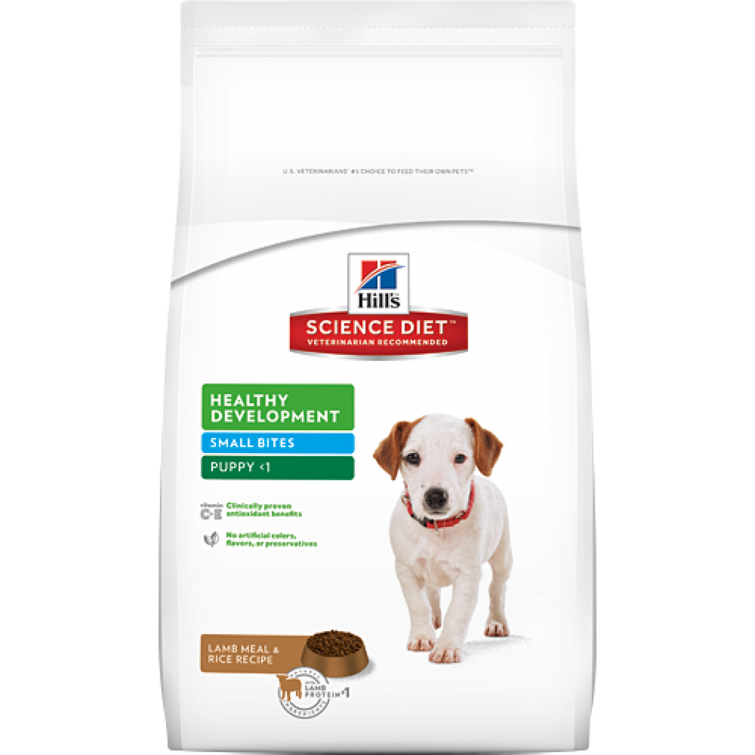 Hill's Science Diet Canine Puppy Lamb and Rice Small Bites Dry Dog Food 3KG