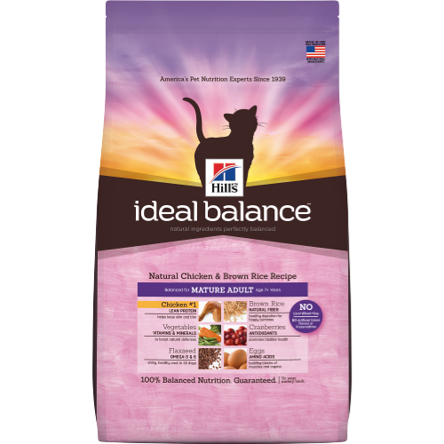 Hill's Ideal Balance Feline Mature Food 3.5LB