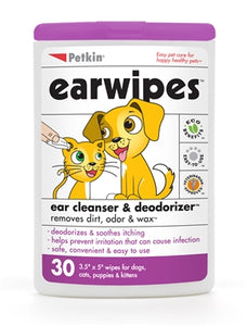 Petkin Ear Wipes (30ct)