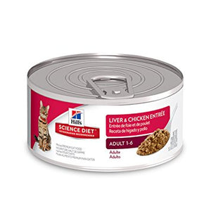 Hill's Science Diet Feline Adult Liver & Chicken Entrée (24x5.5OZ)