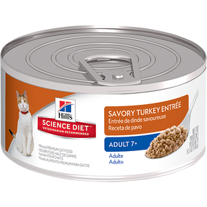 Hill's Science Diet Feline Mature Turkey Entrée (24x5.5OZ)