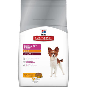 Hill's Science Diet Canine Light Small & Toy Breed Dry Dog Food 4.5LB