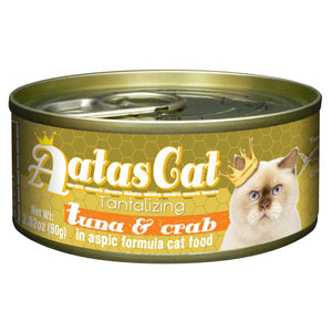Aatas Cat Tantalizing Tuna and Crab In Aspic Canned Food 80g