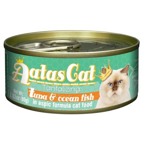 Aatas Cat Tantalizing Tuna and Ocean Fish In Aspic Canned Food 80g