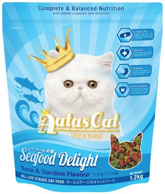 Aatas Cat Seafood Delight Dry Cat Food (Tuna & Sardine Flavor) 1.2KG