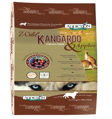 ADDICTION – Wild Kangaroo & Apples Dog Food (9kg)