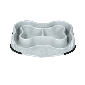Anti Ant Bone Shape Dish Dogs Bowl