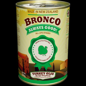 Bronco Turkey Olio Dog Food (24x390G)