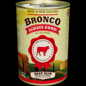 Bronco Beef Olio Dog Food (24x390G)