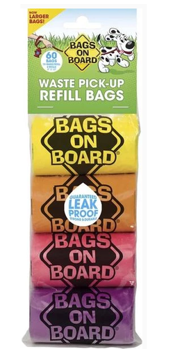 Bags on Board Waste Pick-up Bags Refill (60 bags)