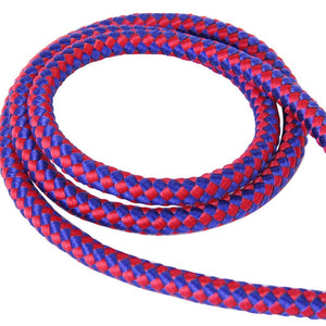 Braided Nylon Pet Dog Leash Lead Rope (Red/Blue)