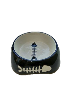 Cat Ceramic Fish Bone Bowl ø11.5cm