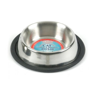 Classic Stainless Steel Non-Tip Cat Bowl