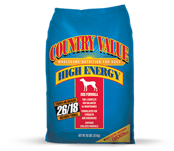 Country Value Hi-Energy Adult Dry Dog Food 50LBS