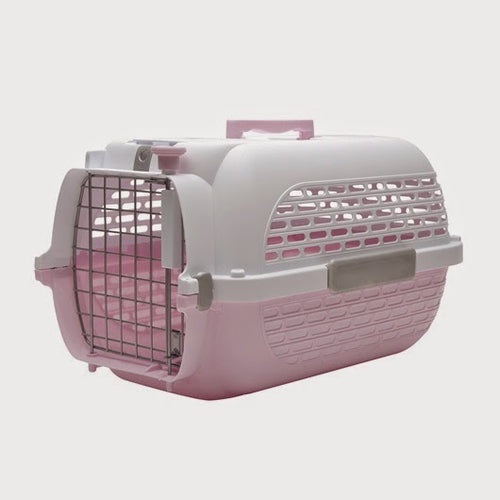 Catit Voyageur Pet Carrier (Pink & White)