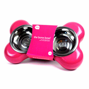 The Dog Bone Bowl - Pink (500ml)