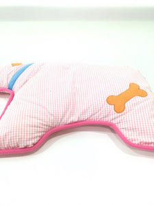 Dog-shaped Pink Bed