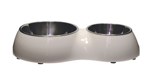 Dogit Double Diner Dog Bowl - White