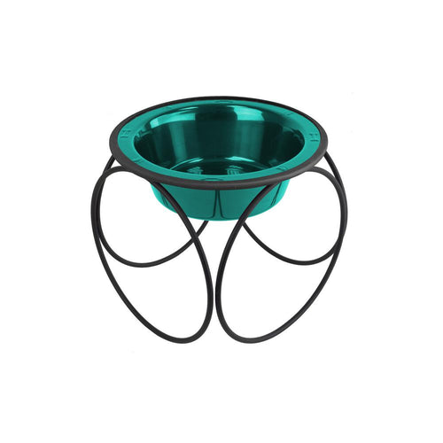 Olympic Diner Feeder with Dog Bowl - Caribbean Teal (16oz)