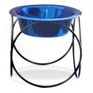 Olympic Diner Feeder with Dog Bowl - Blue (8 cups)