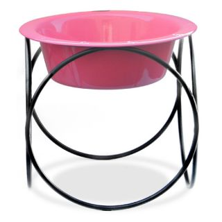 Olympic Diner Feeder with Dog Bowl - Pink (8 cups)