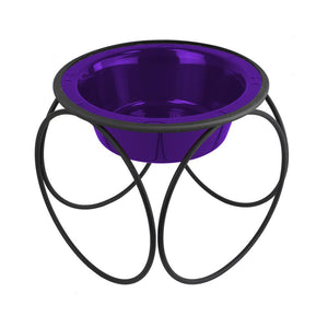Olympic Diner Feeder with Dog Bowl - Electric Purple (32oz)