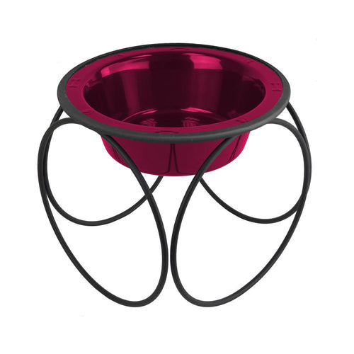 Olympic Diner Feeder with Dog Bowl - Red (32oz)