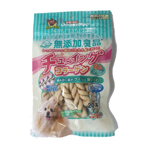 DoggyMan Soft Rawhide Collagen Gum Moni milk Twist (20pcs)