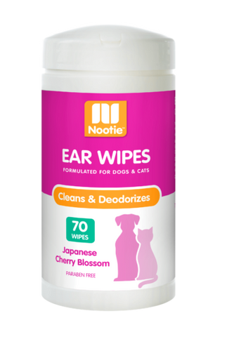 2 x Nootie Ear Wipes Japanese Cherry Blossom (70 Wipes)