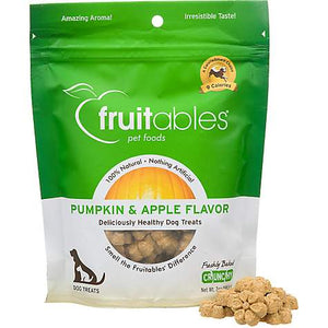 Fruitables Pumpkin & Apple Flavor Crunchy Dog Treats 7OZ