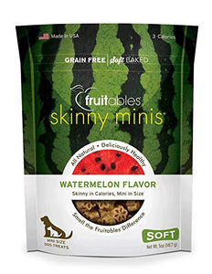 Fruitables Skinny Minis Watermelon Chewy Dog Treats 5OZ