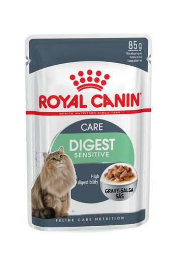 Royal Canin Digest Sensitive Cat Pouch Food (12x85g)