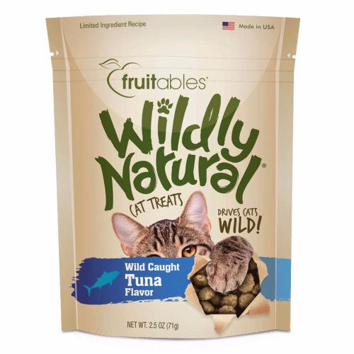 Fruitables Wildly Natural Wild Caught Tuna Cat Treats 2.5OZ
