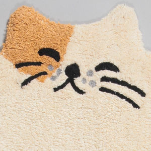 GUDAGUDA Cat Face Floor Mat (Brown)