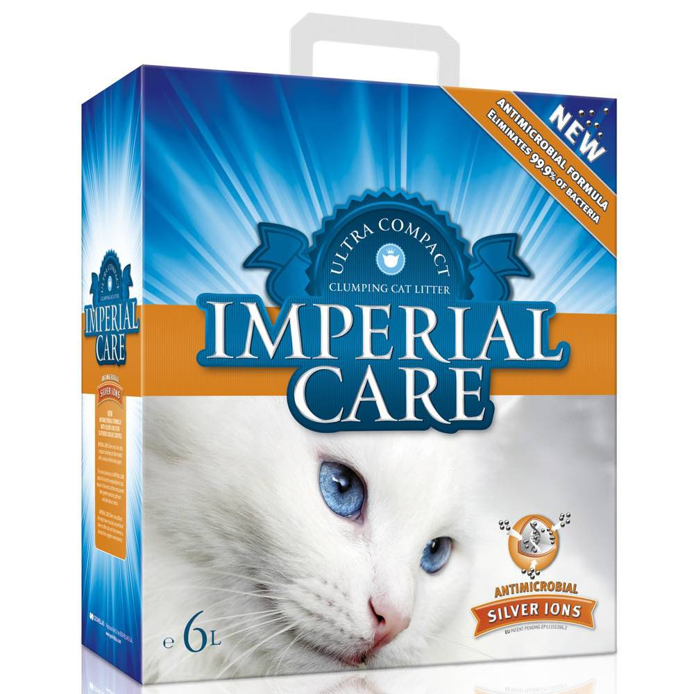 Imperial Care Premium Clumping Cat Litter - Silver Ions 6L