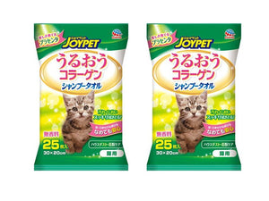 JOYPET Shampoo Towel 30x20cm for Cat (2 x 25pcs)