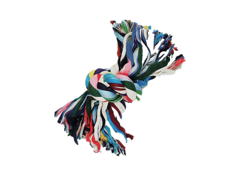 Single Knot Cotton Rope Dogs Chew Toy (Random Colour)