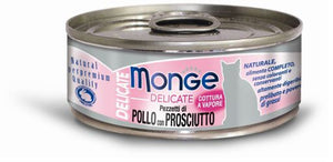 Monge Delicate Chicken With Ham Canned Cat Food
