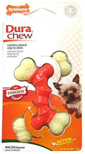 NYLABONE DURA CHEW DOUBLE BONE BACON FLAVOUR