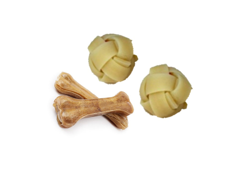 Natural Rawhide Dog Treats (Assorted)
