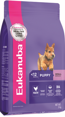 Eukanuba Puppy Small Breed Chicken Dry Dog Food (1KG/3KG/9KG/15KG)