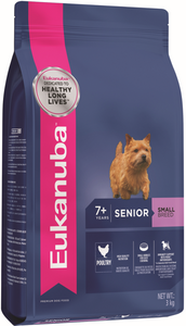Eukanuba Senior Small Breed Chicken Dry Dog Food 3KG