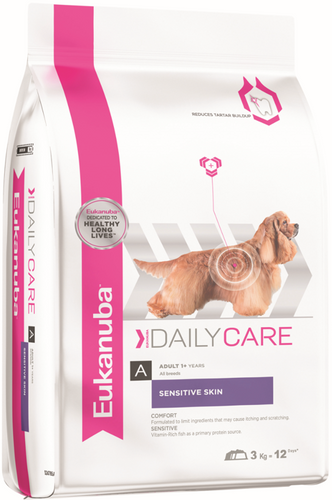 Eukanuba Adult Daily Care Sensitive Skin Dry Dog Food (2.3KG/12KG)