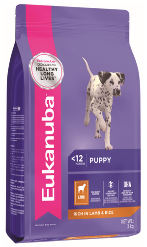 Eukanuba All Breed Lamb & Rice Dry Puppy Food (3KG/12KG)
