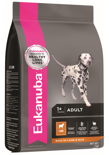 Eukanuba All Breed Adult Lamb & Rice Dry Dog Food (3KG/12KG)