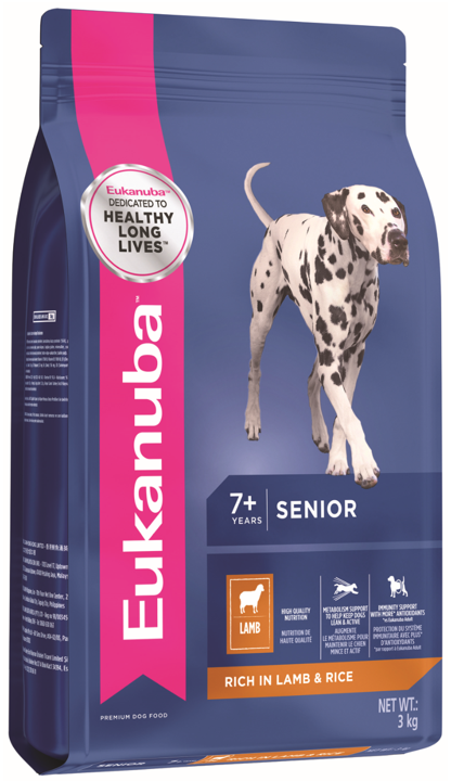Eukanuba All Breed Lamb & Rice Senior Dry Dog Food (3KG/14KG)