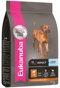 Eukanuba Adult Large Breed Lamb & Rice Dry Dog Food (3KG/15KG)